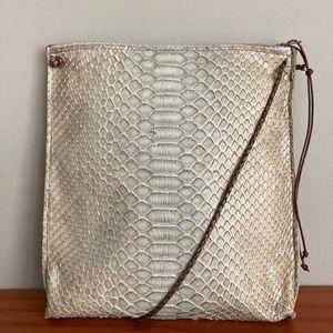 B May Strappy Pouch Python Handbag